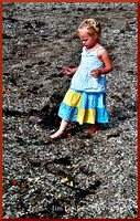 Little Girl on Glass Beach w border DSC_0635