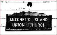 Wooden church sign w sig